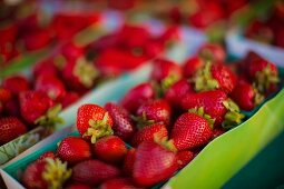 Strawberries in paper punnets