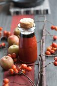 Rosehip jam with beetroot syrup