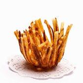 Chips on a doily