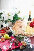 A Christmas cheese platter