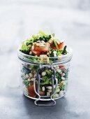 Barley salad with broccoli