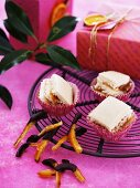 Citrus cakes and candied orange peel as Christmas presents
