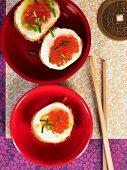 Deep-fried eggs