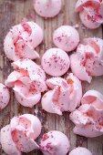 Rose meringues