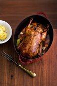 Roast duck with potato dumplings