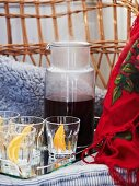 Christmas punch with oranges