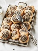 Small Danish pastries with poppyseed