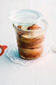 Apfel-Zimt-Kuchen im Glas