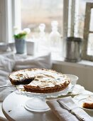 Bilberry and passion fruit meringue pie