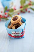 Jam biscuits to give as a gift