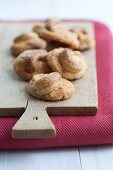 Christmas biscuits with cashew nuts