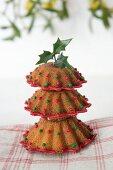 A sponge cake Christmas tree