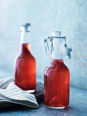 Beer vinegar in bottles
