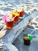 Caribbean drink with Coca Cola and Cointreau for a Caribbean picnic