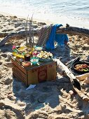 A Caribbean picnic on a sandy beach