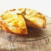 Chicory cake with ham