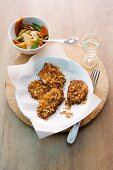 Chicken escalopes with stri-fried vegetables