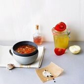 Tomato soup with onions