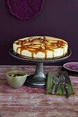 Cheesecake with salted hazelnut caramel