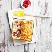 Raspberry and quark soufflé (low carb)