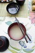 A bowl of miso soup (Japan)