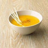 Pumpkin and lemongrass soup