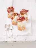 Mascarpone cream with steamed rhubarb