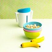 Oat and banana muesli