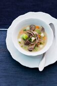 Vegetable soup with goose meat