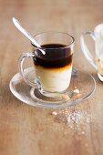 Potato cream with truffle juice