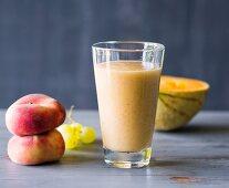 A melon and peach smoothie