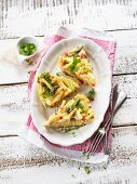 Pasta frittata with bacon