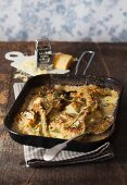 Gratinated fennel in a creamy sauce