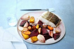 Cod with glazed vegetables
