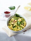 Fusilli with courgette and basil