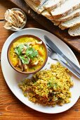 Pumpkin curry with cashew nuts