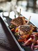 Grilled lamb chops with tomato salsa