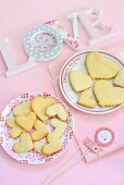 Heart-shaped biscuits for Valentine's Day