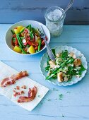 ADHD food: potato salad and spelt salad