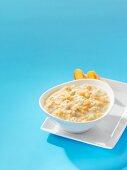 Porridge with peaches