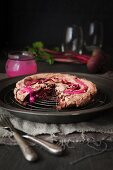 Beetroot and chocolate meringue cake
