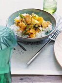 Thai-styled red fish curry