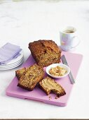 Spiced carrot bread with cinnamon butter