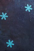 Homemade paper snowflakes