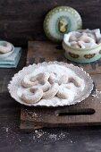 Classic Vanillekipferl (crescent-shaped vanilla biscuits)