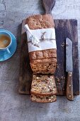Fruit bread with nuts and dried fruit