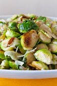 Roasted Brussels sprouts with grated cheese