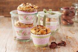 Pekannuss-Muffins mit Krokant