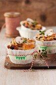 Pikante Pilzmuffins mit Schinken