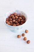 Hazelnuts in a dish